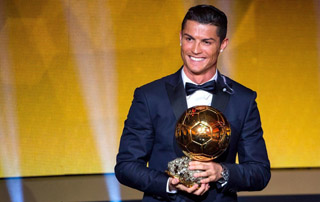 Cristiano Ronaldo CR7 In Tuxedo 2017 Ballon d'Or Award Ceremony