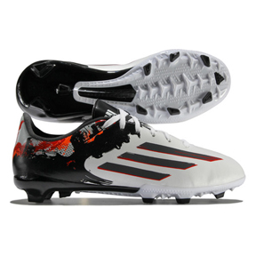 adidas Youth Lionel Messi 10.3 TRX FG Soccer Shoes (White/Gray)