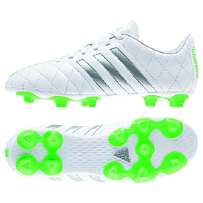 adidas Womens 11Questra TRX FG Soccer Shoes (White/Green)