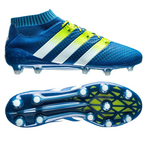 adidas ACE  16.1 Primeknit FG Soccer Shoes (Blue/Green)
