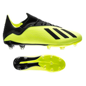adidas X 18.2  FG Soccer Shoes (Solar Yellow/Core Black)