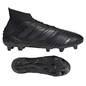 adidas  Predator   19.1 Leather FG Soccer Shoes (Core Black)