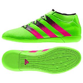 adidas ACE 16.3 PrimeMesh Indoor Soccer Shoes (Green/Pink)