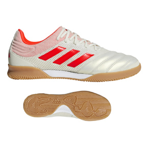 adidas Copa 19.3 Indoor Soccer Shoes (Off White/Solar Red)