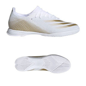 adidas  X  Ghosted.3 Indoor Soccer Shoes (Cloud White/Gold)