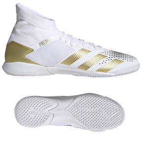 adidas Youth  Predator  Mutator 20.3 Indoor Soccer Shoes (White)