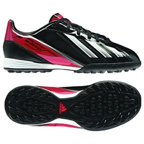 adidas Youth F10 TRX Turf Soccer Shoes (Black/Infrared)