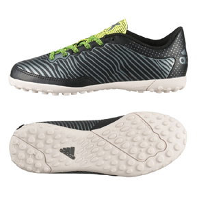 adidas Youth X 15.3 Cage Turf Soccer Shoes (Black/Solar Yellow)