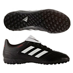 adidas Youth Copa 17.4 Turf Soccer Shoes (Black/White)