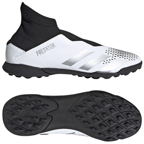adidas Youth  Predator  20.3 Laceless LL Turf Shoes (White/Black)