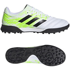 adidas  Copa 20.3  Turf Soccer Shoes (Cloud White/Core Black)