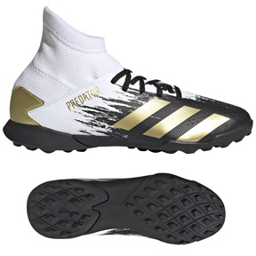 adidas Youth  Predator 20.3 Turf Soccer Shoes (Cloud White/Gold)