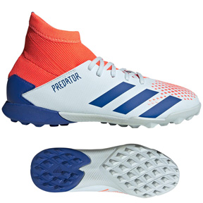 adidas Youth  Predator 20.3 Turf Soccer Shoes (Sky Tint/Royal)