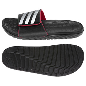 adidas Voloomix Vario Soccer Sandal / Slide (Black/Grey/Red)