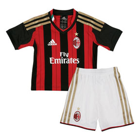 adidas Young Boy AC Milan Soccer Jersey Mini Kit (Home)