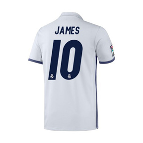 adidas Youth Real Madrid James #10 Soccer Jersey (Home 16/17)
