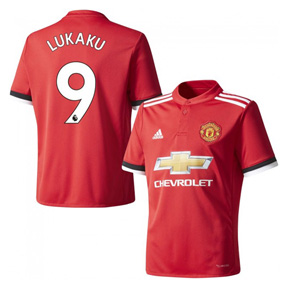 adidas Youth Manchester United Lukaku #9 Jersey (Home 17/18)
