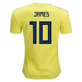 adidas Colombia James #10 Soccer Jersey (Home 18/19)