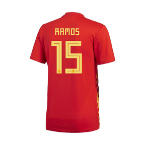 adidas Spain Ramos #15 Soccer Jersey (Home 18/19)