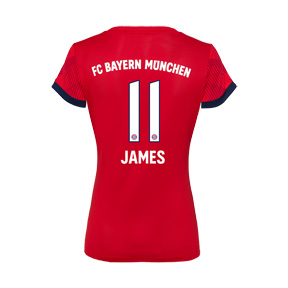 adidas Womens Bayern Munich James #11 Jersey (Home 18/19)