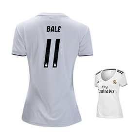 adidas Womens Real Madrid Bale #11 Soccer Jersey (Home 18/19)