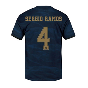 adidas Youth  Real Madrid  Sergio Ramos #4 Jersey (Away 19/20)