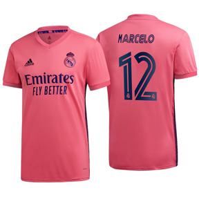 adidas Youth  Real Madrid  Marcelo #12 Soccer Jersey (Away 20/21)