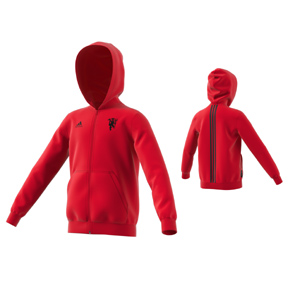 adidas Youth  Manchester United Soccer Hoody (Real Red 2019)