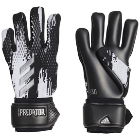 adidas  Predator  20 League Soccer Goalie Glove (Black/White)