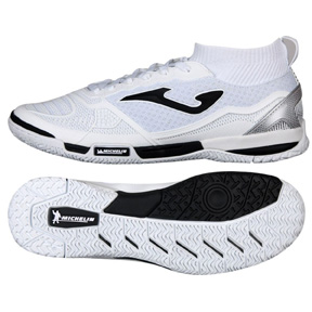 Joma  Tactico 802 Indoor Soccer Shoes (White/Black)