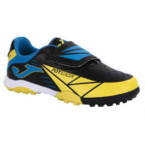 Joma Youth Tactil Turf Soccer Shoes (Black/Yellow)