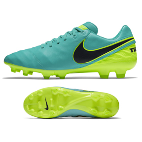 Nike Tiempo Legacy  II FG Soccer Shoes (Clear Jade/Volt)