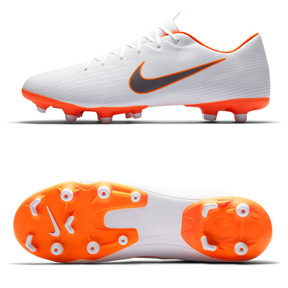 Nike Mercurial Vapor XII Academy MG Soccer Shoes (White/Orange)