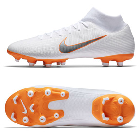Nike Youth Superfly 6 Academy MG Soccer Shoes (White/Orange)