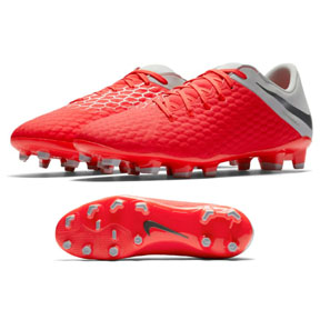 Nike HyperVenom Phantom III Academy FG Shoes (Light Crimson)