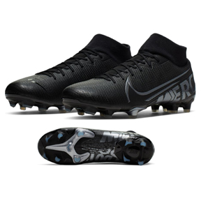Nike  Superfly 7 Academy MG Soccer Shoes (Black/Cool Grey)