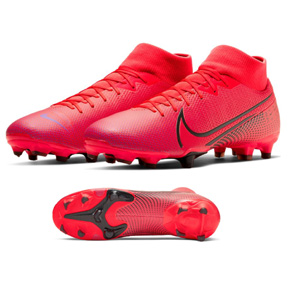 Nike  Superfly 7 Academy MG Soccer Shoes (Laser Crimson/Black)