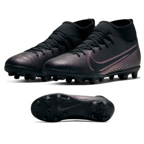 Nike Youth  Superfly 7 Club MG Soccer Shoes (Black/Black)