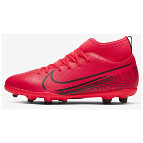 Nike Youth  Superfly 7 Club MG Soccer Shoes (Crimson/Black)