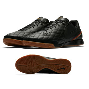 Nike TiempoX Ligera IV Ronaldinho #10 Indoor Shoes (Black/Gold)