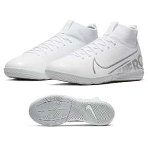 Nike Youth  Superfly 7 Academy DF Indoor Shoes (White/Chrome)