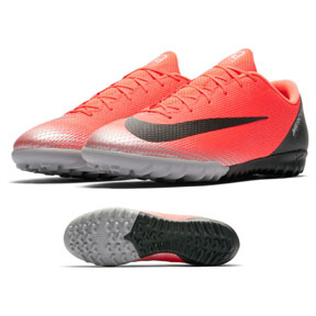 Nike CR7 MercurialX Vapor XII Academy Turf Soccer Shoes (Red)