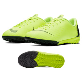 Nike Youth Mercurial Vapor XII Academy Turf Shoes (Volt)