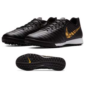 Nike Tiempo Legend 7 Academy Turf Soccer Shoes (Black/Gold)