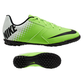 Nike Youth Bomba Turf Soccer Shoes (Electric Green/Black)