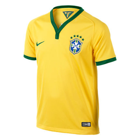 Nike Youth Brazil Soccer Jersey (Home 14/16)