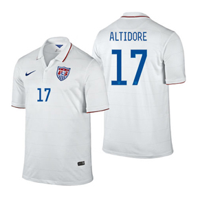 Nike Youth USA Altidore #17 Soccer Jersey (Home 14/16)