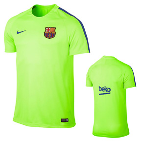 Nike Barcelona Dry Squad Soccer Training Jersey (Ghost Green)