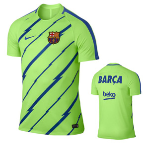 Nike Barcelona Dry Warm Up Soccer Jersey (Ghost Green)
