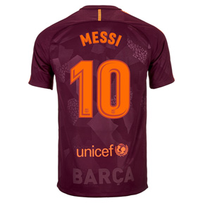 Nike Youth Barcelona Lionel Messi #10 Jersey (Alternate 17/18)